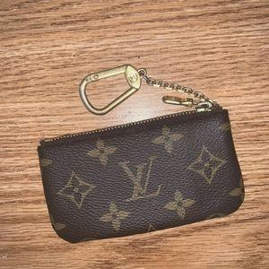 Authentic Louis Vuitton Key Pouch Monogram Canvas